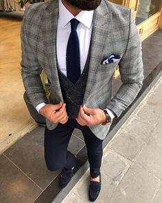 Mens Casual Suits, Dress Suits For Men, Classy Suits, Stylish Mens Outfits, Formal Suits, Blazer Outfits Men, Mens Fashion Blazer, Business Casual Black Men, Business Suits