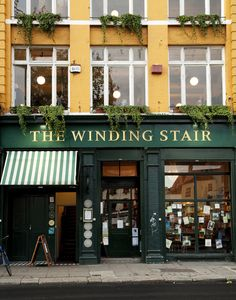 The Winding Stair is a bookshop in Dublin with an excellent restaurant upstairs.