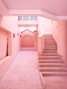 All pink buildings with palm tree shadows, Soma Bay Egypt. All pink everything. Design Set, Design Studio, Pink Love, Pretty In Pink, Pastel Pink, Blush Pink, Pastel Decor, Palette Verte, Tout Rose
