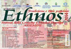 Dal 21 sino al 24 Giugno 2014 ad Assemini, rivive la tradizione e la cultura Sarda con la tredicesima edizione del Festival Ethnos, festival della canzone e della musica popolare, dal 21 al 24 giugno 2014.  #ConcertiCagliari #EventiCagliari