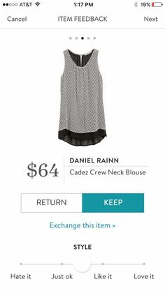 Love this for work! It's black and white, flowy, and perfect for layering.
