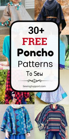 Free Sewing Patterns for Ponchos. free poncho sewing patterns, tutorials, and diy projects. Sew fabric ponchos for women and kids, including hooded styles. Great easy sewing project for the beginner. Hood Pattern Sewing, Easy Sewing Patterns, Easy Sewing Projects, Sewing Tutorials, Diy Projects, Fleece Projects, Pattern Fabric, Sewing Ideas, Hooded Poncho Pattern