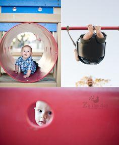 {Santa Barbara Park and Beach Photo Session}… Playground Photo Shoot, Playground Photography, Toddler Photography, Park Photography, Playground Design, Playground Pictures, Indoor Photography, Outdoor Playground, Toddler Photos