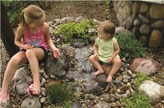 Pond-Less water features are ideal for homeowners who want the sight and sounds of a waterfall but need the safety of a non-open body of water.  Imagine: Science Projects, Art, Biology and just plain enjoyment of a living landscape element.