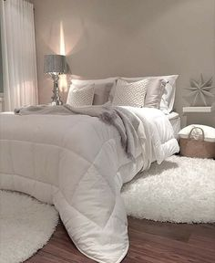 Mukavaa iltaa ja kauniita unia😉😘 Enjoy your evening😘 . Cozy Bedroom, White Bedroom, Bedroom Inspo, Dream Bedroom, Bedroom Decor, Modern Bedroom, Master Bedroom Makeover, Minimalist Bedroom, Guest Bedrooms
