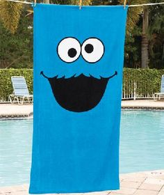 "Sesame Street 30"" x 60"" Beach Towel- Cookie Monster"