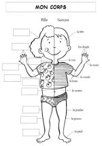 Body Parts worksheet- can use as a dictionary to label
