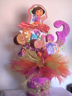 Idea to create for Jocelyn and Jasmines  Dora Themed Bday, would travel well :)