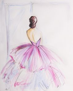 Ltd. Ed. Sketch Print (Series 2) - Signed | Pinks Layers | Christian Siriano