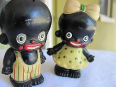 Cute moorish baby figurines as salt & pepper shakers #kitsch #retro #vintage - Carefully selected by GORGONIA www.gorgonia.it