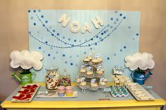 Cute and unique April Showers Birthday Party. Lots of fun details. Steal some of these ideas for a baby shower!