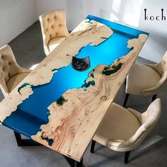 37 Stunning Resin Wood Table Design Ideas You Will Love - For several reasons, resin furniture has become a popular alternative to wooden furniture created for outdoor use. It looks similar to painted wood, b. Diy Resin River Table, Epoxy Wood Table, Diy Resin Crafts, Wood Crafts, Woodworking Crafts, Woodworking Plans, Woodworking Classes, Popular Woodworking, Woodworking Magazine