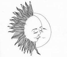 sun and moon tattoo tumblr - Google Search