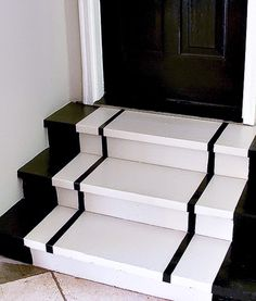 How to Snaze up the Garage Steps.Simple Steps For Painting Steps. use some elbow grease to clean and then some paint to transform your garage steps. Garage Steps, Clean Garage, Porch Steps, Garage Entryway, Garage Doors, Garage Cabinets, Step By Step Painting, Painting Steps, Garage Paint