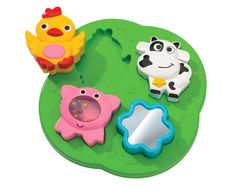 ABC Farm puzzle with Rattles for 1 year olds has visual, audio & tactile  benefits #toys #Kids #colorful #playtime #simbatoys