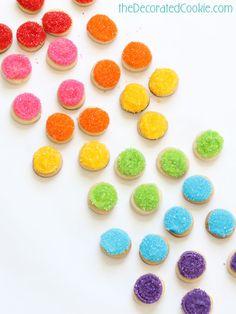 birthday gift idea: mason jar of sparkly rainbow cookie bites