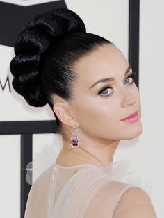 Katy Perry Rope Braid Updo
