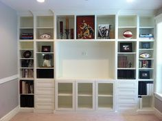 In Its Place Organization: Built-in Bookcase and a Feature!