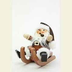 tis the season: Smoker Santa on sleigh natural - / 4 inch Christmas Lights, Christmas Holidays, Christmas Decorations, Wooden Advent Calendar, Handmade Wooden, Handmade Gifts, Nutcrackers, Santa Sleigh, Wooden Art