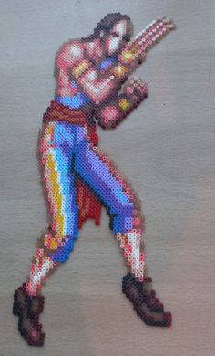 HandMade Super Street Fighter 2 Sprite's. by PixelBeadPictures
