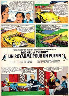 Michel et Thierry, Un royaume pour un puffin, Charles Jadoul, Arthur Piroton, Spirou n°1327 du 19 septembre 1963