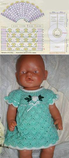 El vestido para la muñeca tejido por el gancho. El vestido para la muñeca por el gancho | Todo sobre la costura: los esquemas, el maestro las clases, la idea en el sitio labhousehold.com