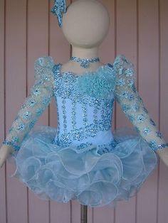 High Glitz Pageant Dress 4-6 Custom Made