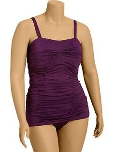 Womens Plus Ruched Skirted Swimsuits | Old Navy