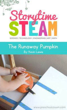 Preschool STEM activities inspired by your favorite picture books. This STEM challenge inspired by the book, The Runaway Pumpkin.