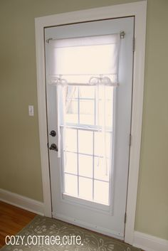 Curtain idea for back door