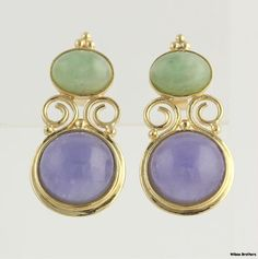 10.72ctw Genuine Purple & Green Jade Dangle by WilsonBrothers, $259.99