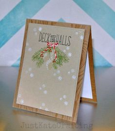 Lawn Fawn - Deck the Halls, Peppermint Lawn Trimmings _ lovely card by Kate via Flickr - Photo Sharing!