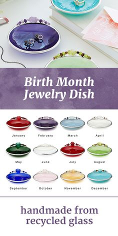 Taking Inspiration From Traditional Birthstones Each Stained Gl Dish Is Carefully Handcrafted