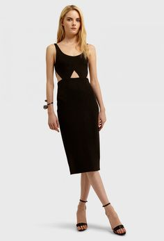 47f8b0a3a287 AQ/AQ Lute Cut-Out Fitted Knee Length Dress with Low Front and Back