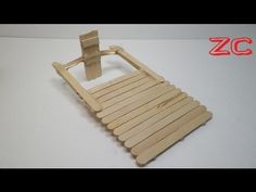 How to make a motor boat from popsticks