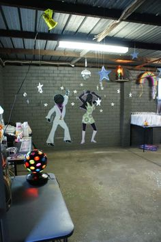 Disco Party Decoration by ~Verusca on deviantART Disco 70s, Disco Night, 1970s Party, Disco Party Decorations, Disco Theme, Decade Party, Rock Star Party, 40th Birthday Parties, Theme Parties