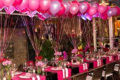 Decoração com balões para festa de aniversário adulto