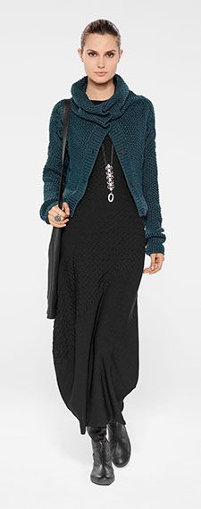 Sarah Pacini Winter 2014. I actually really like the green sweater.