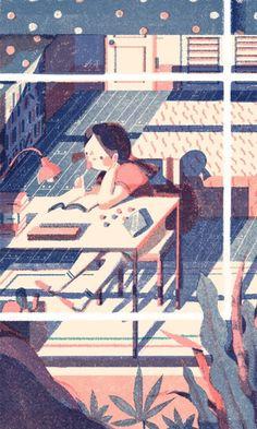Los libros, el estudio, el conocimiento… (ilustració de Lisk Feng)
