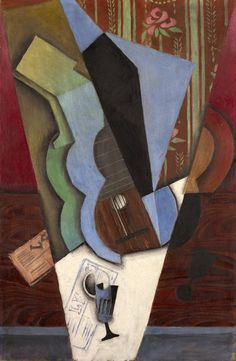 Abstraction (Guitar and Glass), July 1913 | Juan Gris  Spanish, 1887–1927 | Oil on canvas  36 x 23 1/2 in.     Oil on canvas  36 x 23 1/2 in