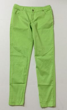 Excellent New Light Lime Green Sexy Low Rise Soft Skinny Pants Junior39s Size 9