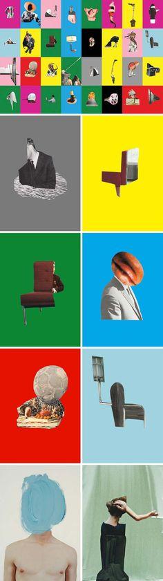 Sergei Sviatchenko, contemporary photo collage, ukrainian contemporary art, Less series,