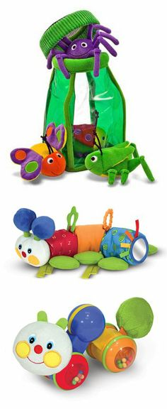 {Bugs, Bugs, Bugs} A cute collection of baby playthings for your little explorer... *See more toys for babies here: http://www.melissaanddoug.com/baby-toys?&n=0&va=t