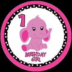 Pink Elephant Birthday Iron On by MamaMadeGifts on Etsy, $7.00