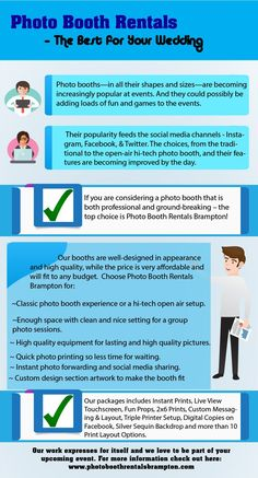 Photo Booth Rentals Brampton  The Best for Your Wedding http://www.liveinfographic.com/i/photo-booth-rentals-brampton-the-best-for-your-wedding/ Tags: #infographic  #infographics #popular #pinterest #pinterestinfographics