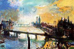 Oskar Kokoschka - London, Thames Landscape at Albertina Museum Vienna