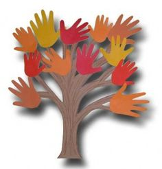 This in in front of my classroom door right now. We did it with our buddy class. They traced each other's hands and helped them write what the were thankful for. I used crumpled brown butcher paper for the trunk. Everyone that sees it says how much they love it. Hand tree..write what we are thankful for on each hand