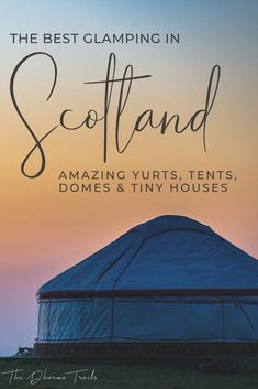 Want to go glamping in Scotland? We've found some unique camping tents, pods, tiny houses and more. Whether you want to stay on the Loch Ness, close to Glasgow, in the highlands and more, we've got the list of accommodation for your travel! #scotland #glamping #lochness Scotland Travel Guide, Europe Travel Tips, Ireland Travel, Travel Guides, Travel Uk, Hawaii Travel, Italy Travel, Time Travel, Glamping Scotland