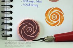 Here& a stamp I carved this morning. I& glad I& put some stamp carving supplies in my limited supplies box. Carving a stamp is qu. Stamp Printing, Screen Printing, Homemade Stamps, Make Your Own Stamp, Eraser Stamp, Foam Stamps, Stencils, Stamp Carving, Fabric Stamping