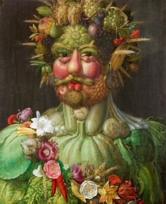 Giuseppe Arcimboldo: Portrait of Rudolf II of Habsburg as Vertumnus (Roman god of the four seasons)